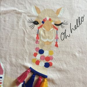 """NWT kate spade """"Oh Hello"""" Pink T-Shirt Size XL"""